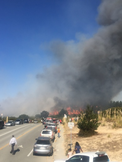 Fire near York School