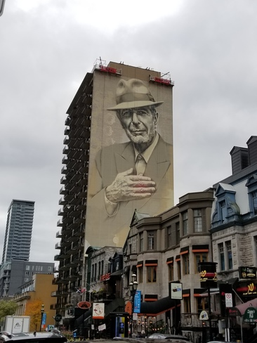 Photos the weather network for Mural leonard cohen