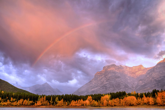 Rainbow over Wedge Pond