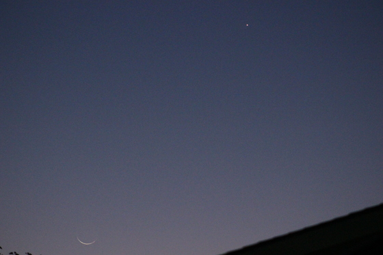 Thin,Crescent Moon,Venus.