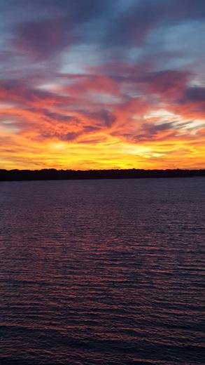 Sunrise over Draper Lake