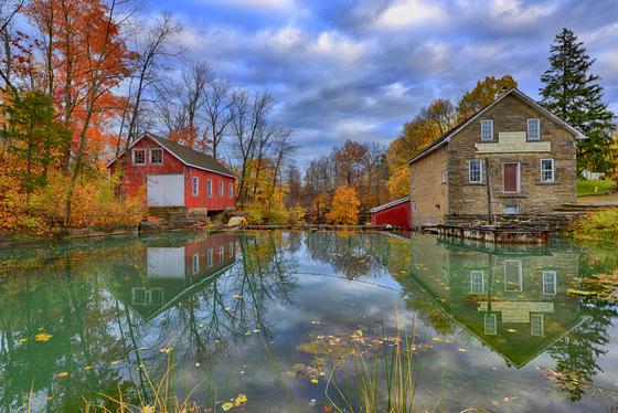 4b. Morningstar Mills autumn reflection