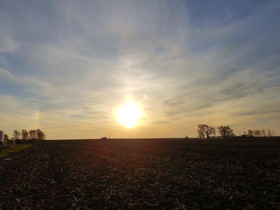 Morning sunrise near Williams, Iowa