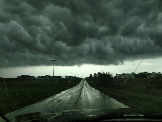 Leading edge of storm