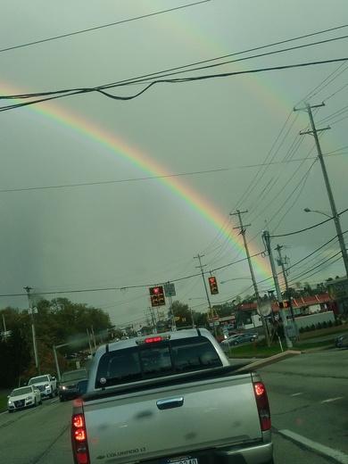Double rainbow in West Mifflin