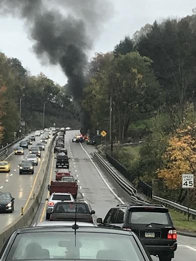 Car fire on McKnight road