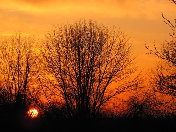 Deer Creek campground sunset