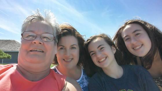 Three Generations of Lake-Loving Ladies
