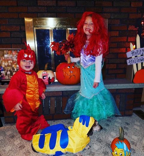 The Little Mermaid Halloween Crew