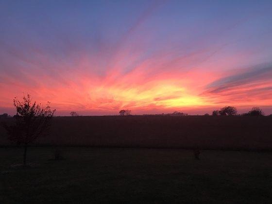 November 1st sunset