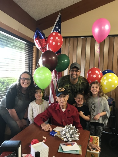 WW2 Veteran celebrates 101st Birthday!