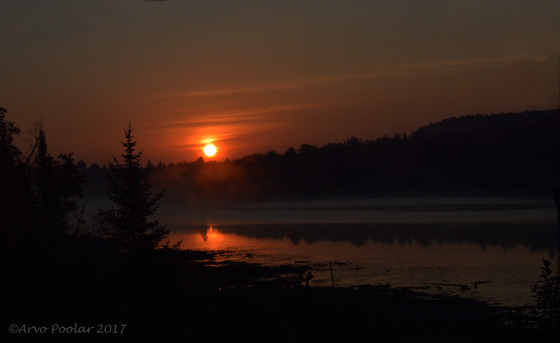 Sunrise over Algonquin Provincial Park