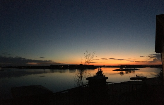 Sunset over West Shores lake