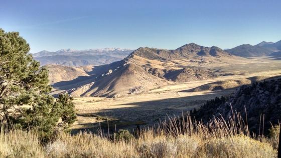 Nevada desert and mountains