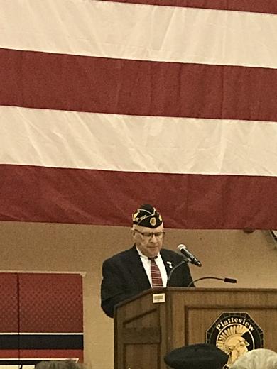 Platteview High school Veterans Day program