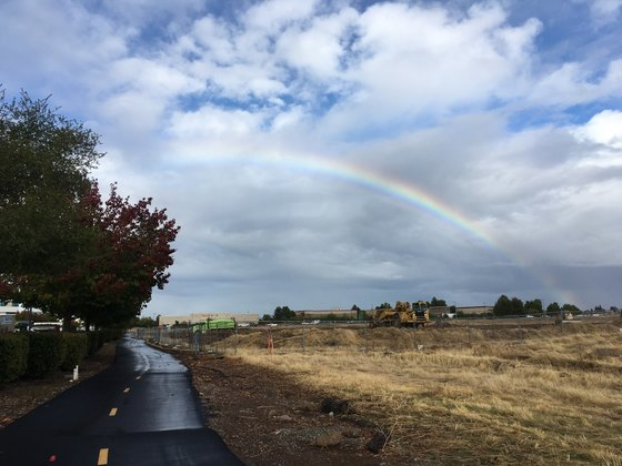 Rainbow over Rocklin