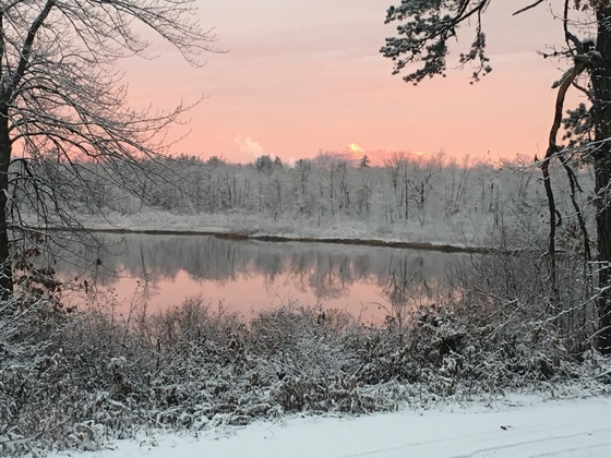 First snow fall on Patch Pond