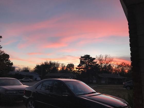 Sun set in Norman ok