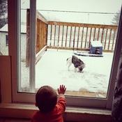 Première neige pour bebe