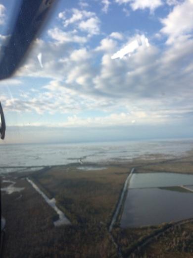 Flying offshore