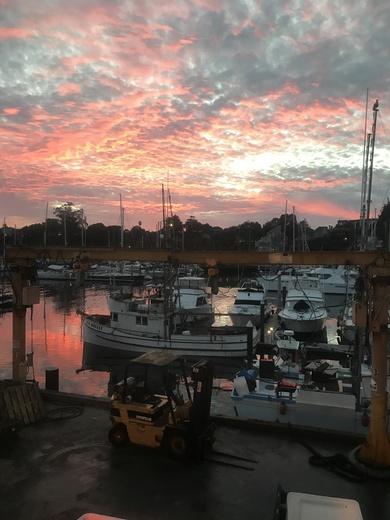 Sunset at Santa Cruz Harbor