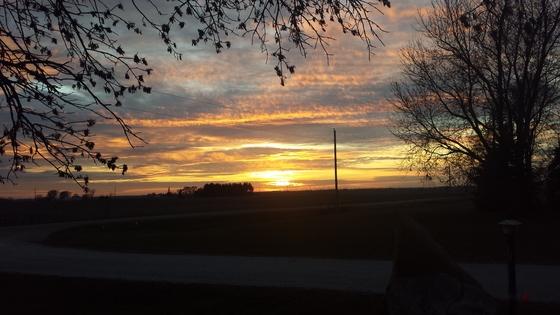 Rural Iowa sunset