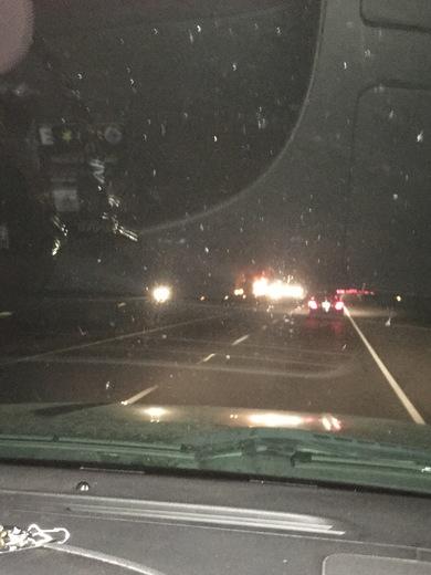 18 wheeler on fire on I12 between abita springs and covington