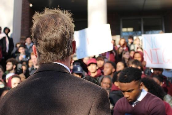 Brookline High School walkout protest
