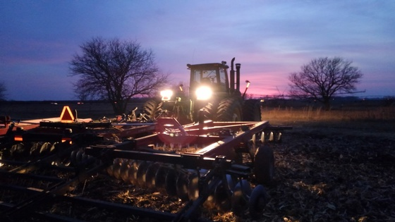 Disking corn stalks