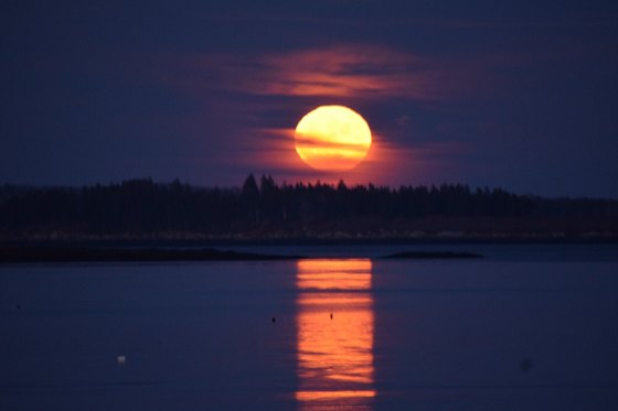 Super Moon from Chebeague Island
