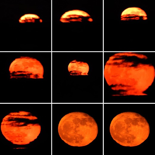 Super moon rising in Hull by Ann Goldman