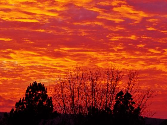 sunset clouds, 12-4-2017