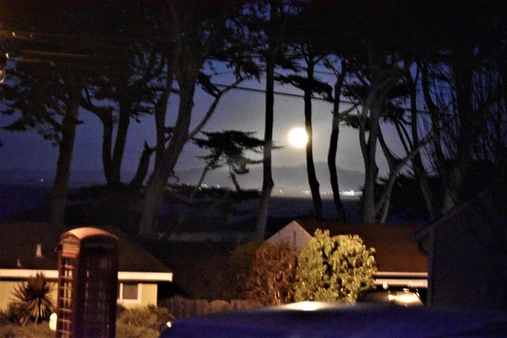 Super Moon Over Monterey Bay