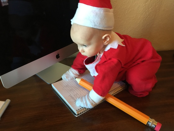 Elf on the shelf, Charlie.