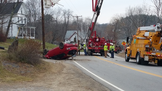 Accident in Belmont