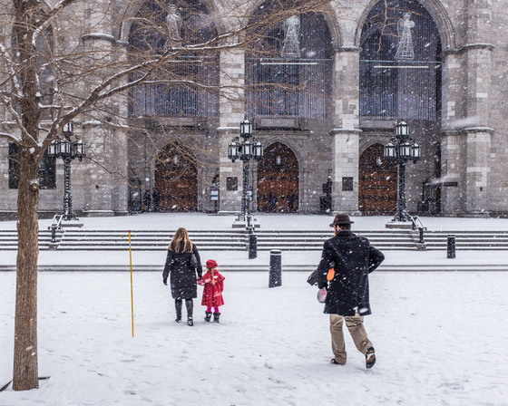 Image result for notre dame winter time students