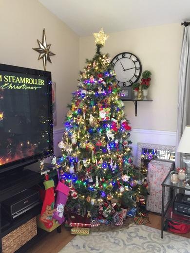 Our tree here in ocala12/2017 happy holidays Happy Hanukkah merry Christmas happy new year