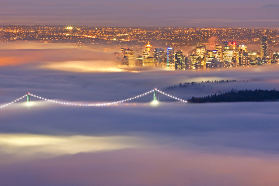 1. Inversion fog over Vancouver Centre