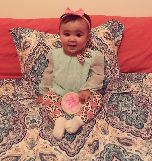 Preslee Alyse Salazar turns 1 year old on January 5, 2018