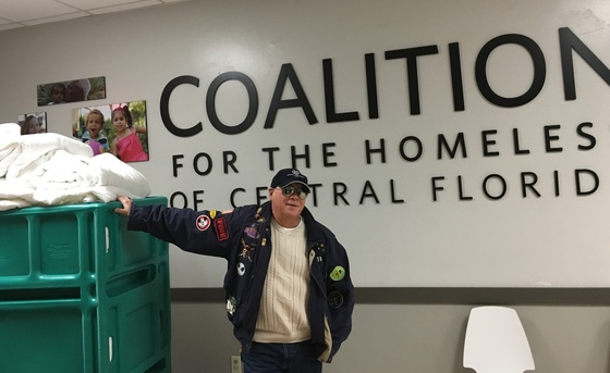 50 comforters to the Coalition for the Homeless
