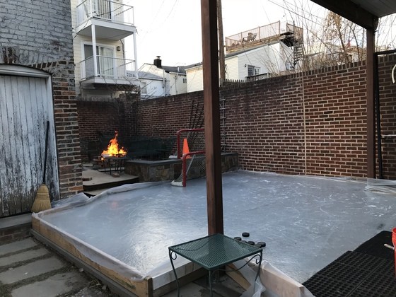 Backyard rink in Upper Fells Point