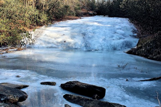 Stone Mountain Falls & Lower Falls At Stone State Park