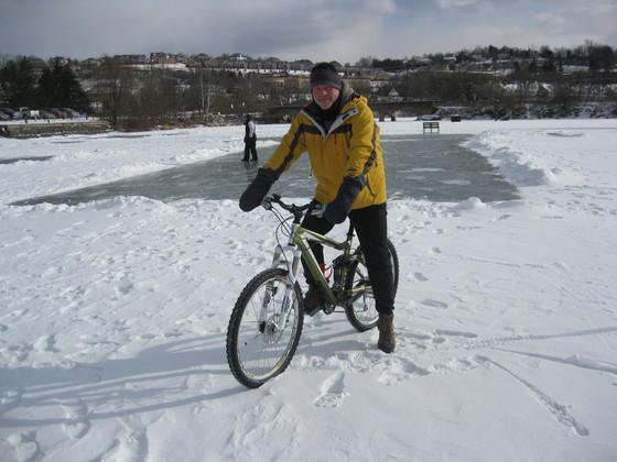 Fun on frozen Canonsburg lake