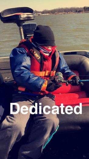 Dedicated fisherman