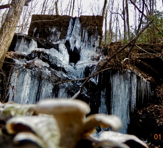 Wonderful winter waterfall walk on Paris Mt.