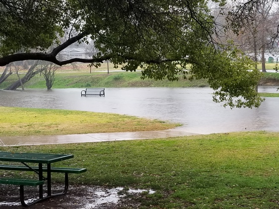Mission Oaks Park in Carmichael practically under water.
