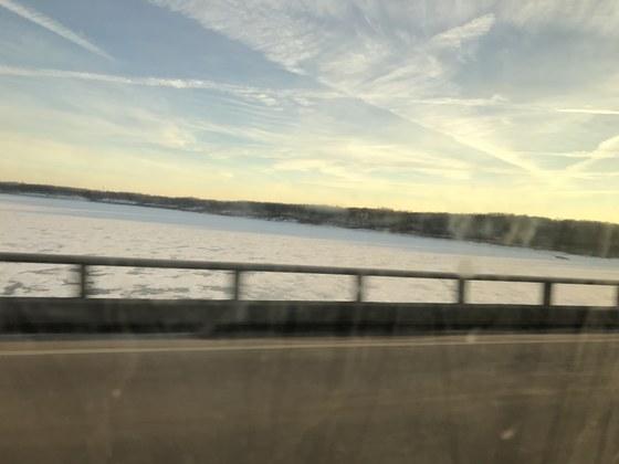 Sunset Over The Mile Long Bridge @ Saylorville Lake