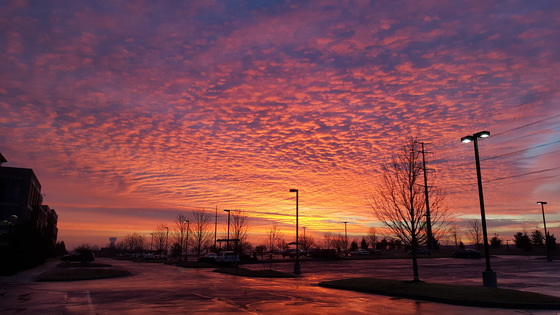Olathe sunrise Jan 9, 2018