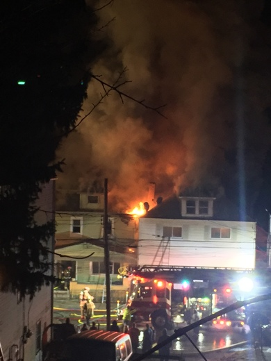 Structure fire in Glassport a little after 2am.