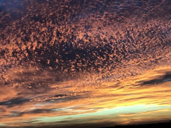 Sunrise on 1-10-2018 in Thomas, OK